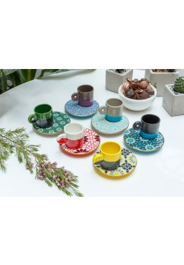 Hand made Turkish coffee set of 6 pcs