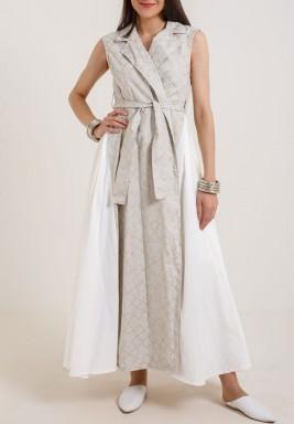Vest wrap dress