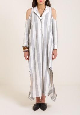 Grey stripes Kaftan