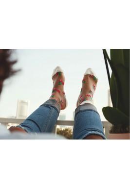 Carmen White Cherries Socks