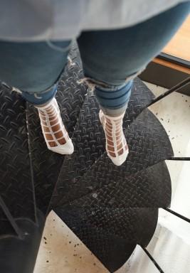 White Waffle Socks