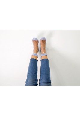 Clara Blue Dotted Socks