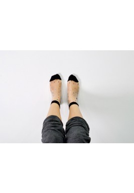 Sprinkles Black Dotted Socks