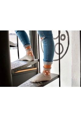 Yasmine Grey Floral Socks