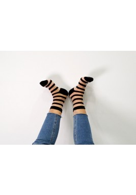 Vicky Black Striped Socks
