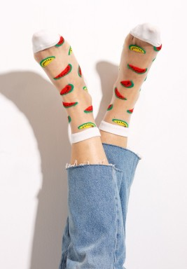 Cocomero White Watermelons Socks