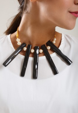 Black bambo necklace