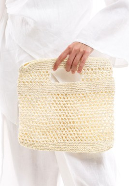 Croshet Bag white