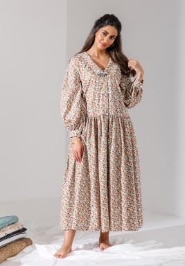 Beige Floral Vintage Liberty Cotton Dress (Limited Edition)