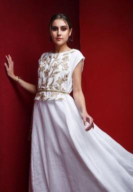 Royal white & golden kaftan