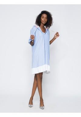 Short Double Split Hooded Dress