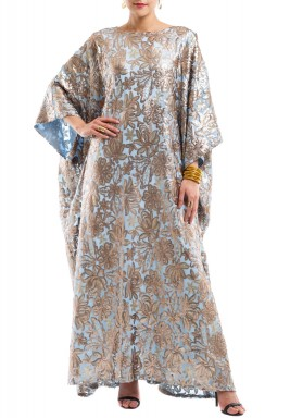 Rose embroidery kaftan