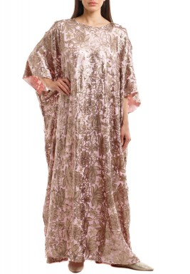 Golden Rose Sequined Kaftan