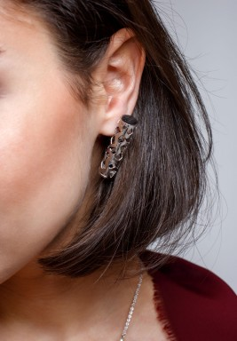 Arabesque Earrings white gold