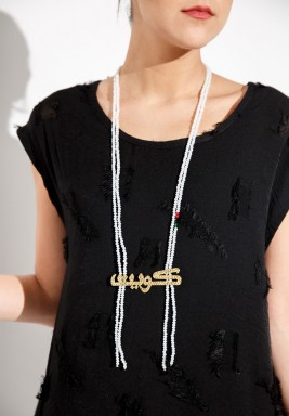 Kuwait 1 necklace (white)