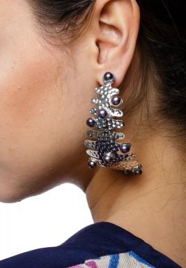 Corallo XL Earrings (White Gold)