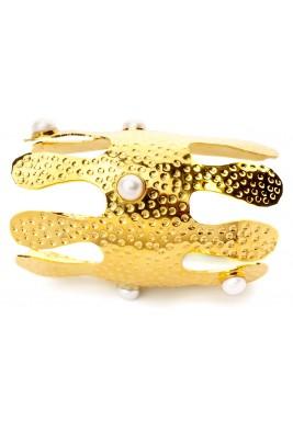 Corallo XL Bangle (Yellow Gold)