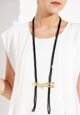 Kuwait 1 necklace (black)