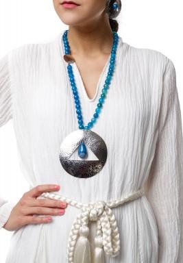 Blue Sun Necklace