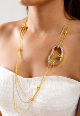 Yellow Cluster Necklace-Pre order