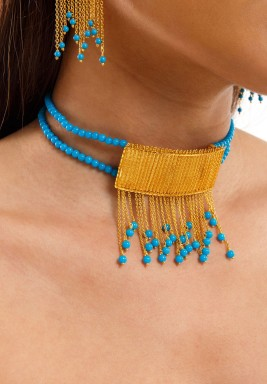 Chained Turquoise Choker-Pre order