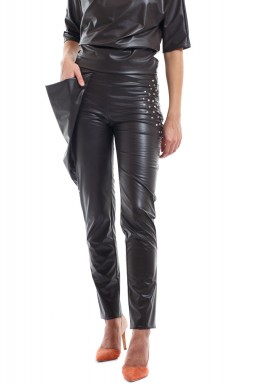 Coffee Faux Leather Pants