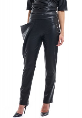 Charcoal Faux Leather Pants