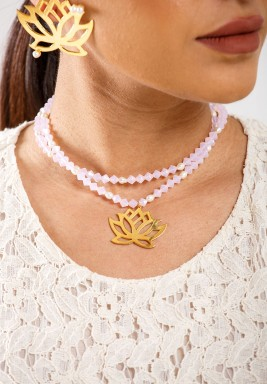 Lotus Flower Necklace Pre order