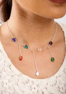 Rainbow Drop Necklace Pre order