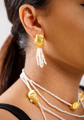 Coy Rocks white earrings -Pre order