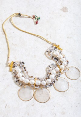 Nairobi Zulu Multi Layered & Stones Necklace