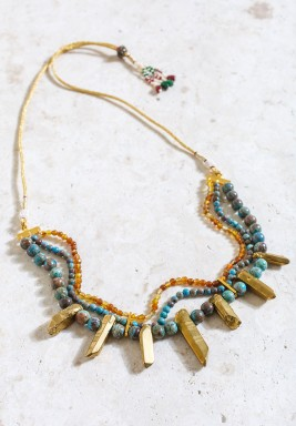 Zulu Multi Layered Adjustable Necklace