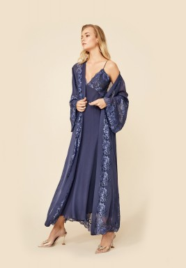 Dark Blue Robe Set