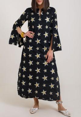 Star love Kaftan black