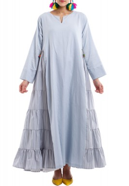 Dull Blue Kaftan