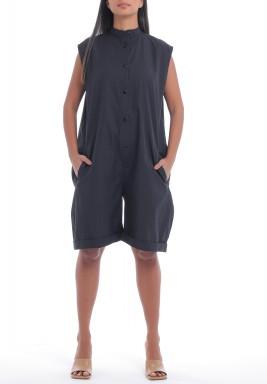 Black Short Oversized Playsuit