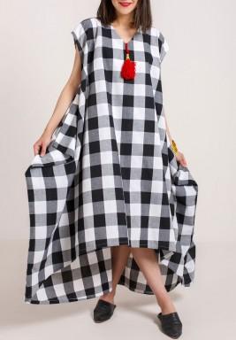 Checkered  Kaftan
