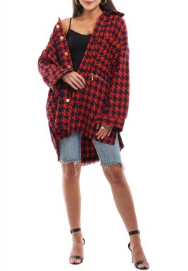 Oversize Checkered Shirt
