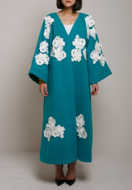 Floral bisht Turquoise