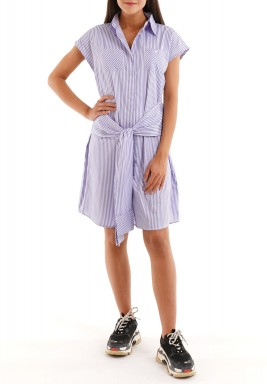 The front bow tie dress (striped edition)