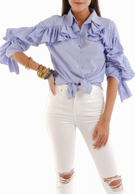 Ruffled Top Shirt
