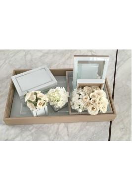 White mirror set
