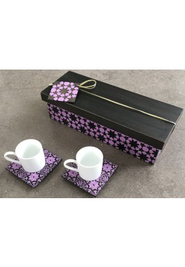 Turkish Coffee Set of 2 Purple