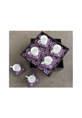 Turkish Coffee Set  of 6 purple