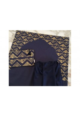 Navy Blue Prayer Skirt Set