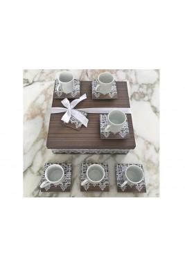 Turkish Coffee Set  of 6 Grey