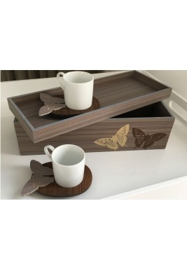 Turkish Coffee Set of 2 Butterfly