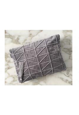 Grey velvet Clutch