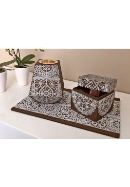 Mubkhar set white