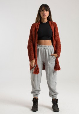 RUST ALL DAY KNIT CARDIGAN